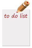 To do list. Writing a list with things to do vector illustration