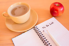 To Do List. In notebook Stock Photos