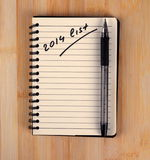 To do list. For 2014 new year Stock Images