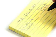 To Do List. Here is a list of things that need to get done Royalty Free Stock Images