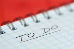 To-do list. Check list on red background Royalty Free Stock Images