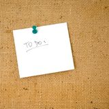 To do list. Ready to be filled Stock Photo