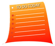 To do list. For today business stock illustration