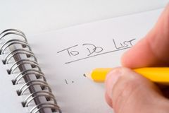 To-Do List Royalty Free Stock Photo