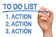 To Do List - Action, Action, Action Royalty Free Stock Image