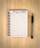 To do list. For 2014 august Royalty Free Stock Photos