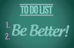 To do list be better concept illustration design Stock Photo