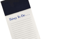 To Do List With Blank Header, Copy Space 2 Stock Photography