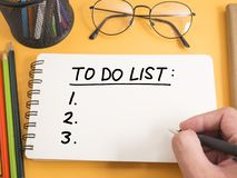 To Do List, Business Schedule Motivational Words Quotes Concept. To do list, business schedule motivational inspirational quotes, words typography top view royalty free stock photo