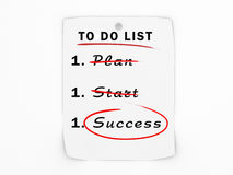 To do list business success concept Stock Photo