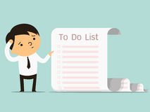 To do list businessman Stock Images
