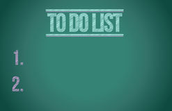 To do list chalkboard illustration design Stock Images