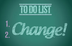 To do list change concept illustration design Royalty Free Stock Image