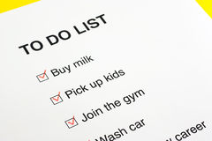 To do list checked with red pencil Royalty Free Stock Photo