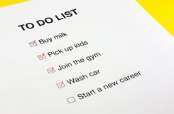 To do list checked with red pencil Stock Image