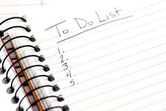 To Do List Checklist Stock Images
