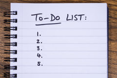 To Do List Stock Photos