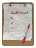 To do list on clip board stock photography