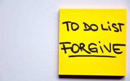 To do list concept: forgive Stock Photos