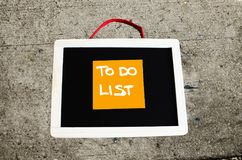 To do list conceptual written on chalkboard stock images