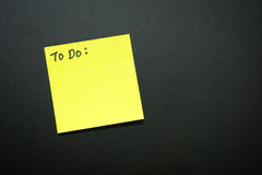 To do list. With copy text on black background Stock Photos
