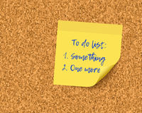 To do list on cork board background Royalty Free Stock Images