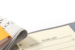 To do list and data. Stock Photography