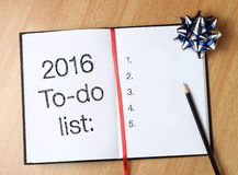 2016 To-do list Stock Image