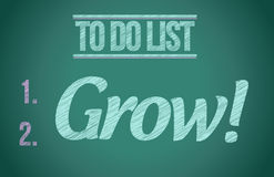 To do list grow concept illustration design. Graphic Royalty Free Stock Photos