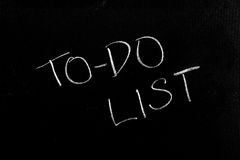 To-Do List. Handwritten chalk text To-Do List on the blackboard Stock Image