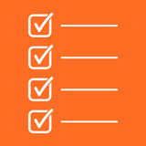 To do list icon. Checklist, task list vector illustration in fla Stock Images