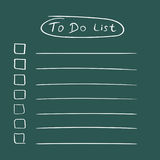 To do list icon with hand drawn text. Checklist, task list vecto Royalty Free Stock Photo