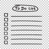 To do list icon with hand drawn text. Checklist, task list vecto Stock Images