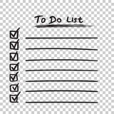 To do list icon with hand drawn text. Checklist, task list vecto. R illustration in flat style on isolated background vector illustration