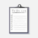 To do list icon with hand drawn text. Checklist, task list vecto Stock Photography