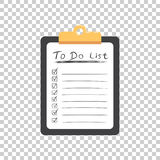 To do list icon with hand drawn text. Checklist, task list vecto Stock Photos