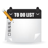To do list illustration Stock Images