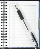 To Do List and Ink Pen Stock Photo