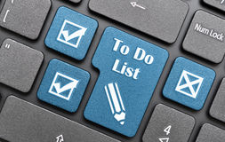 To do list key on keyboard Stock Image