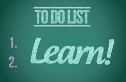 To do list lean. illustration design graphic Royalty Free Stock Images