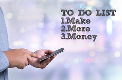 TO DO LIST  - Make More Money Royalty Free Stock Image