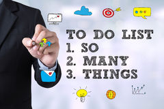 To Do List - So Many Things Royalty Free Stock Photos