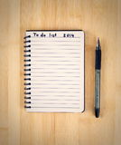 To do list. For 2014 new year Stock Photo