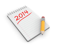 To-do list for the new year Royalty Free Stock Photo