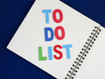 To do list on notebook 15 Royalty Free Stock Photography