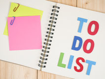 To do list on notebook 12 Stock Photo