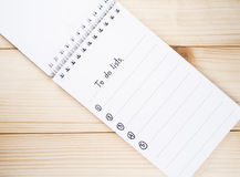 To do list on notebook 9 Royalty Free Stock Photo