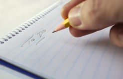 To do list on notepad Royalty Free Stock Photography