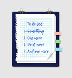To do list on a notepad paper Stock Photos