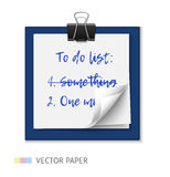 To do list on a notepad paper Stock Photography